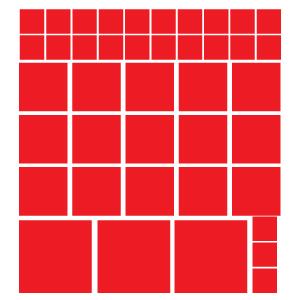 Quadrados Vermelhos